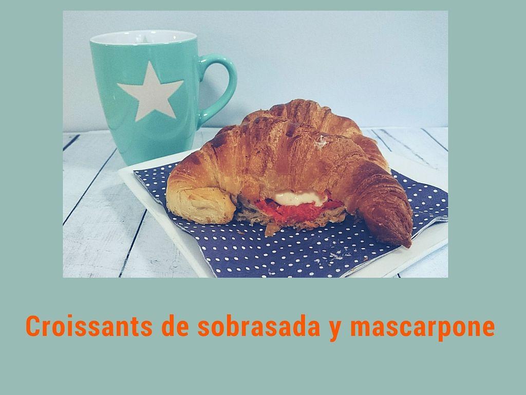 Croissant con sobrasada y mascarpone