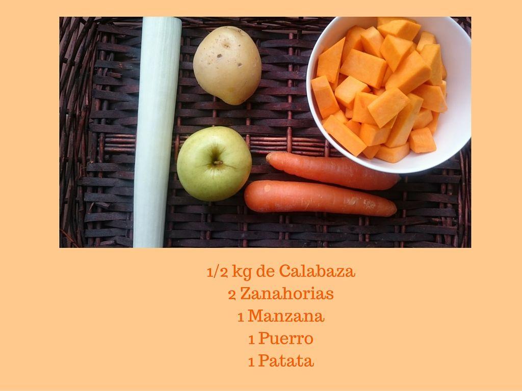 1-2 kg de Calabaza2 Zanahorias1 Manzana1 Puerro1 Patata.jpg