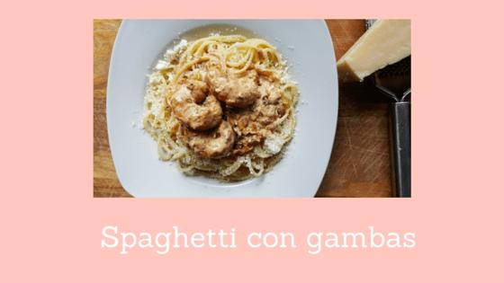 Spaghetti con gambas