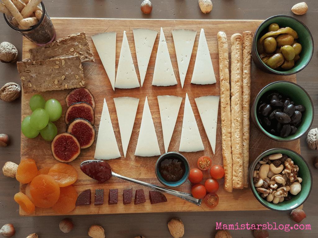 Tabla de queso y frutas / Receta mamistarsblog