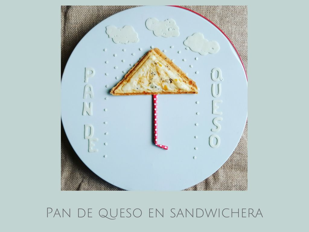 Receta de pan de queso en sandwichera