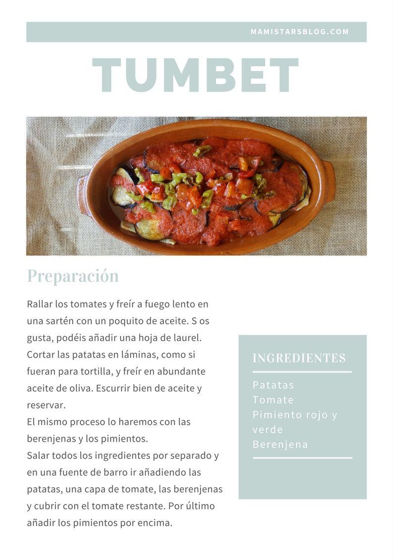Tumbet / Receta tradicional mallorquina