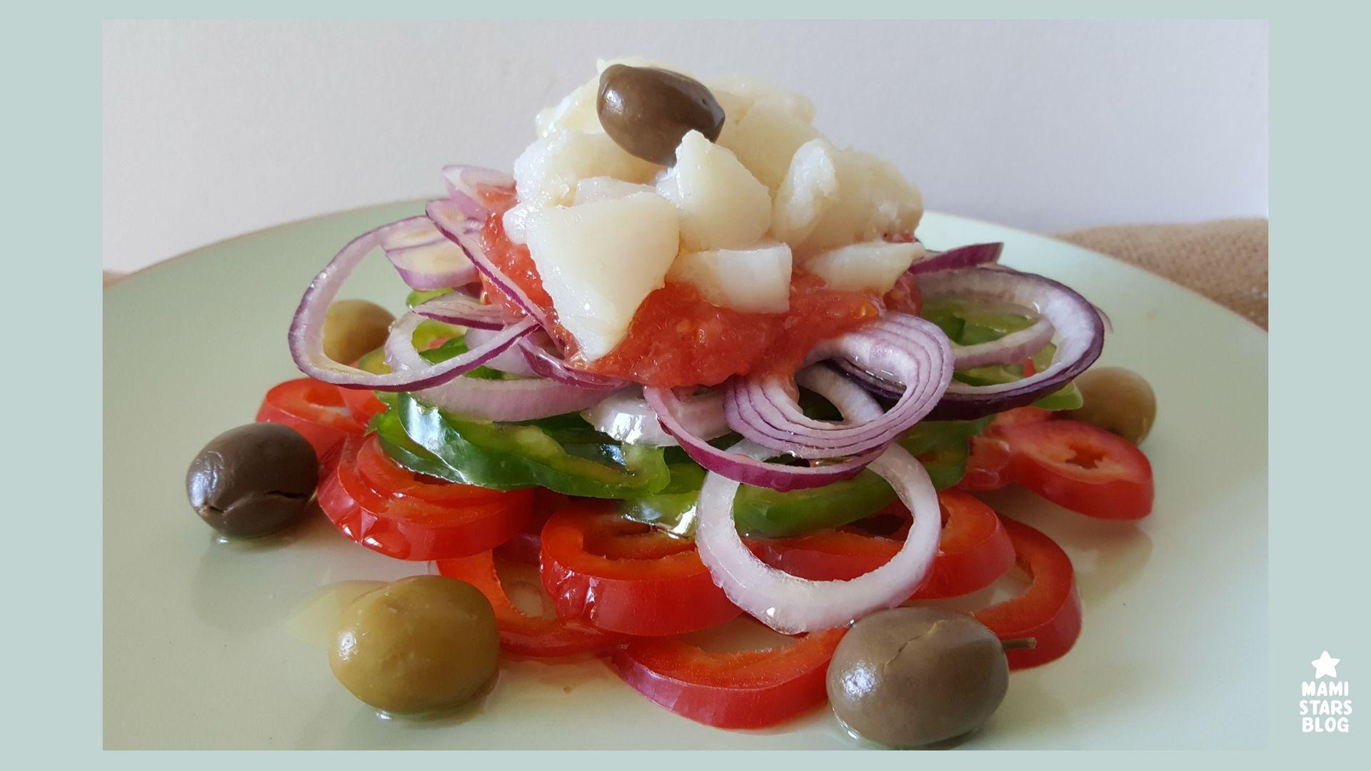 Esqueixada de bacalao / Receta ensalada catalana