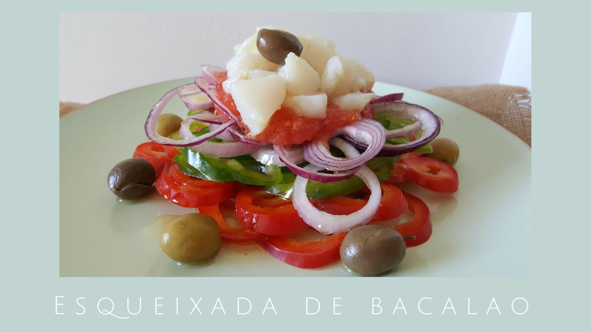 Esqueixada de bacalao / Receta catalana / Ensalada