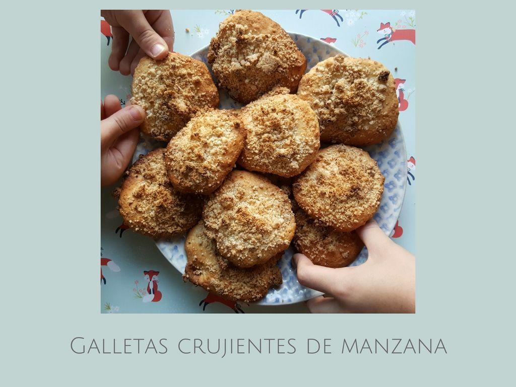 Galletas crujientes de manzana / Receta  fácil para niños