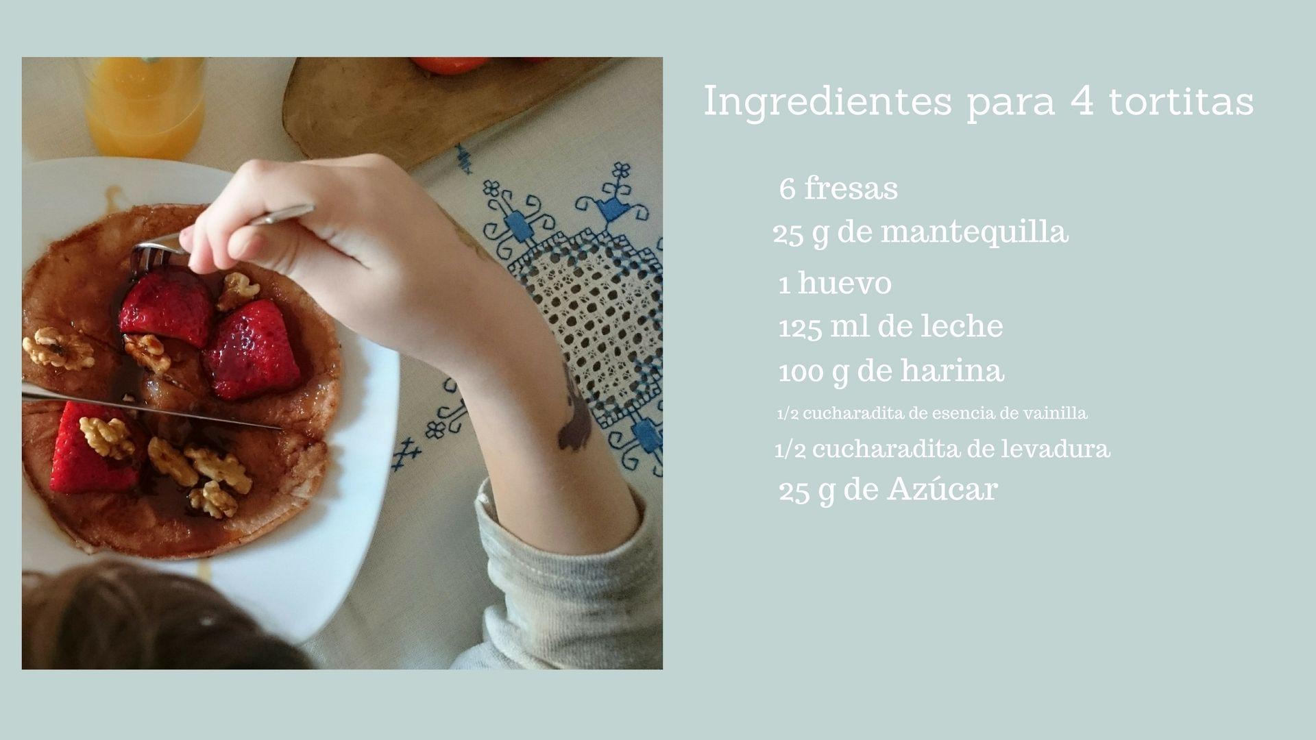 Receta fácil tortitas de fresa