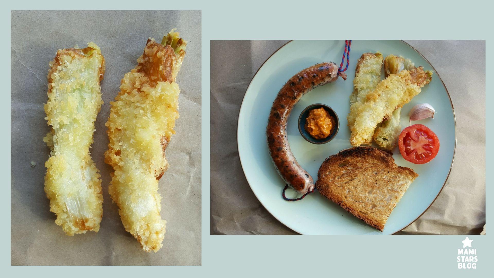 Receta calçots en tempura
