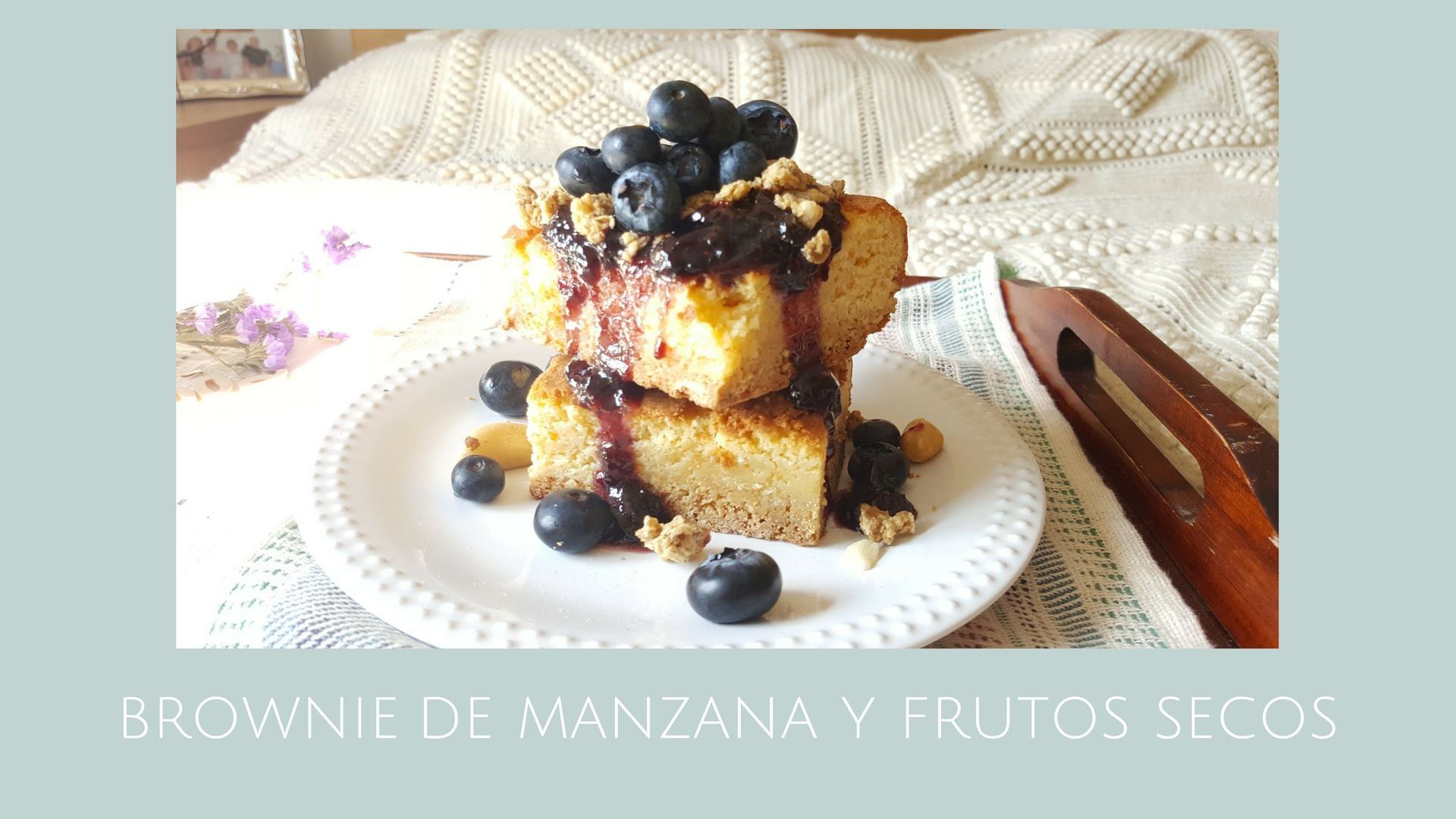 Brownie de manzana y frutos secos