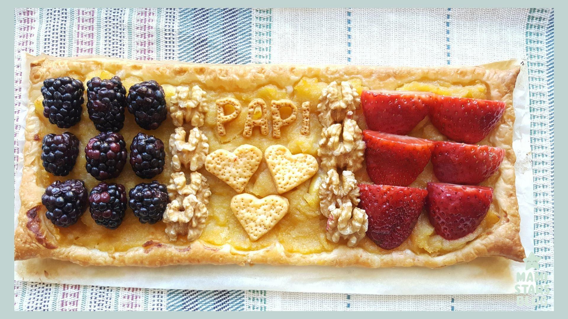 tarta de hojaldre con futas y frutos secos / Receta fácil