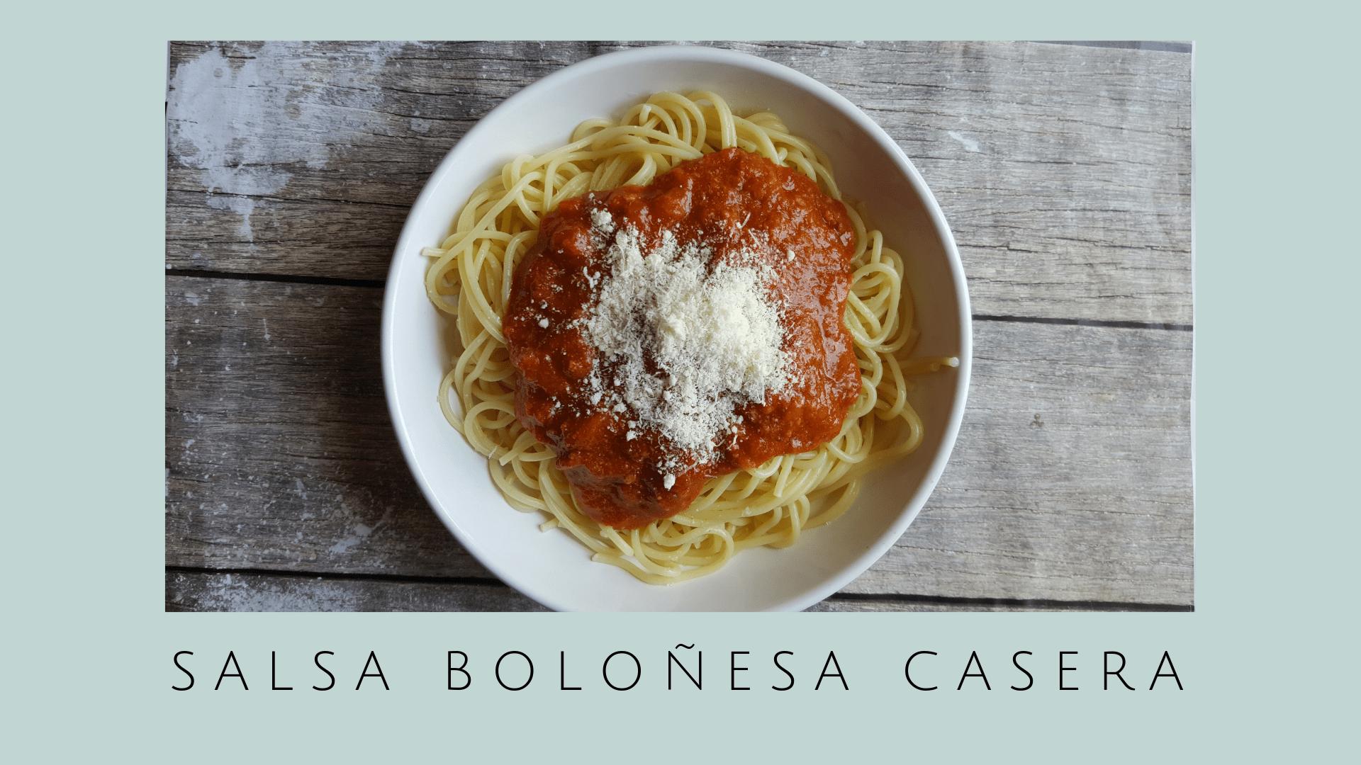 Receta de Salsa Boloñesa casera