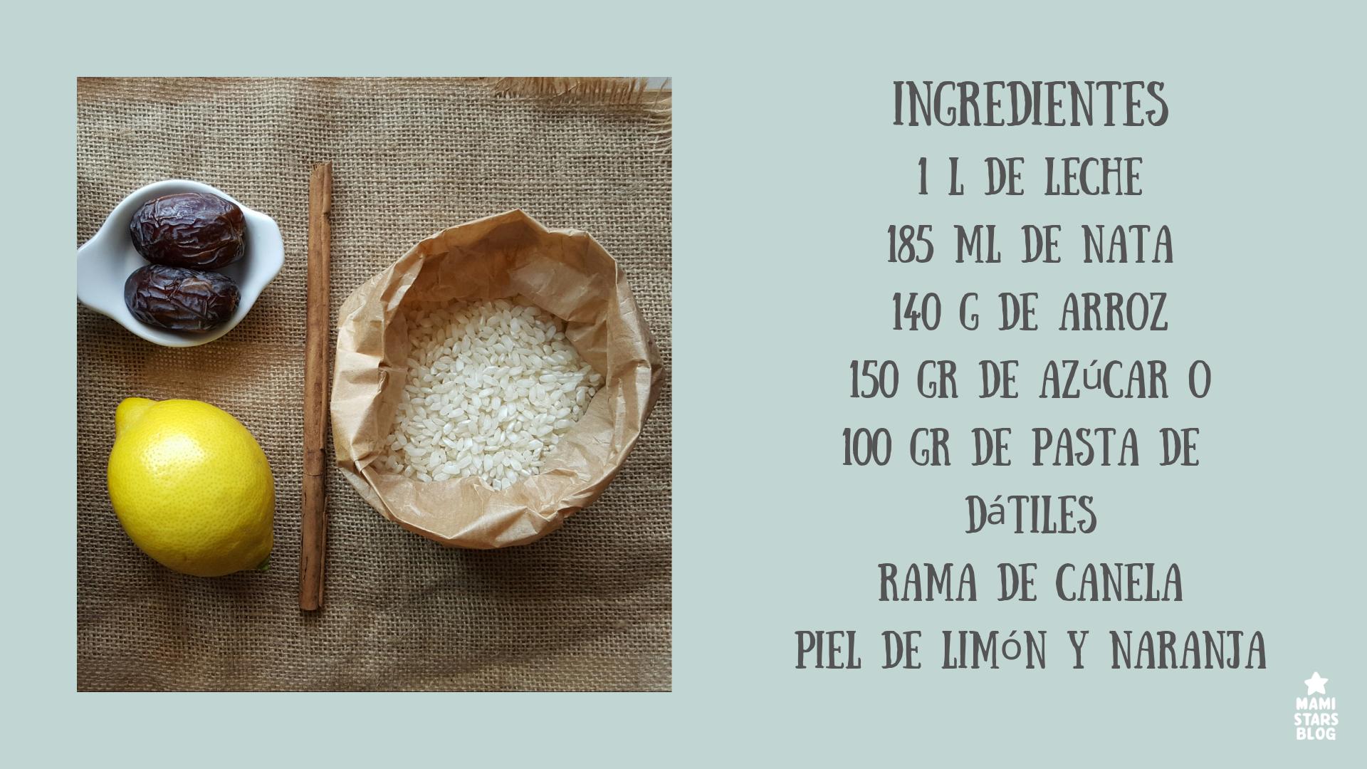 Ingredientes arroz con leche receta tradicional