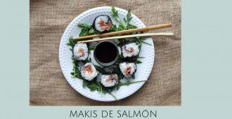 Receta fácil Makis de salmón