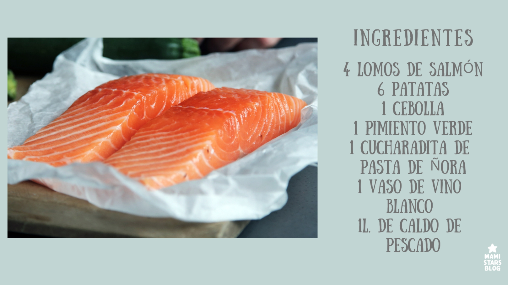 INGREDIENTES RECETA MARMITAKO SALMON