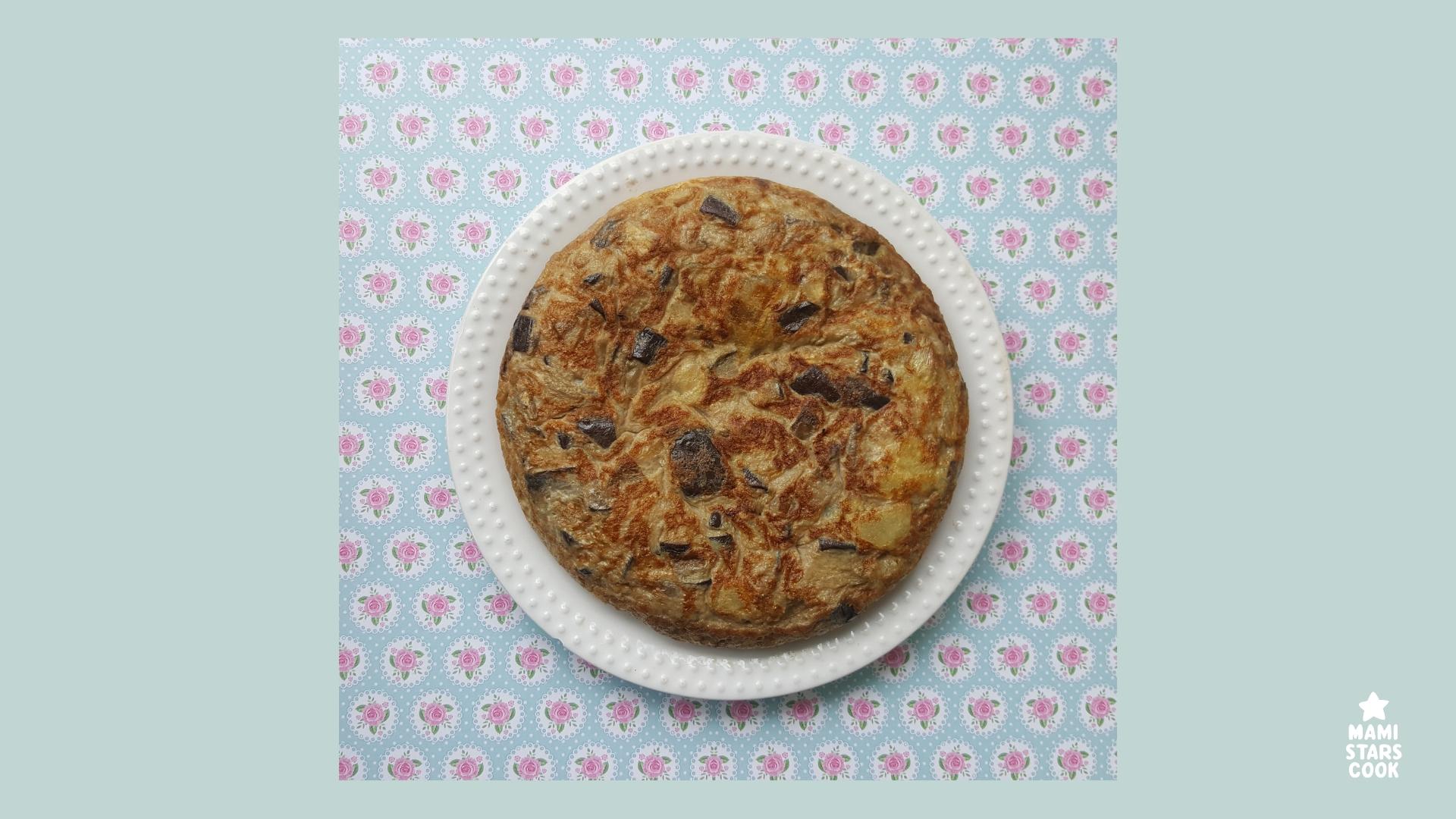 Receta tortilla de berenjenas