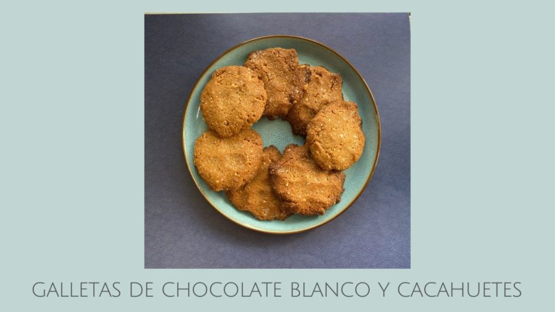COOKIES DE CHOCOLATE BLANCO Y CACAHUETES
