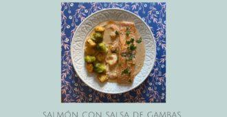 Salmón con salsa de langostinos