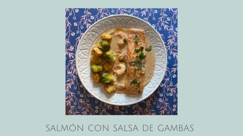 Receta de salmón con salsa de langostinos