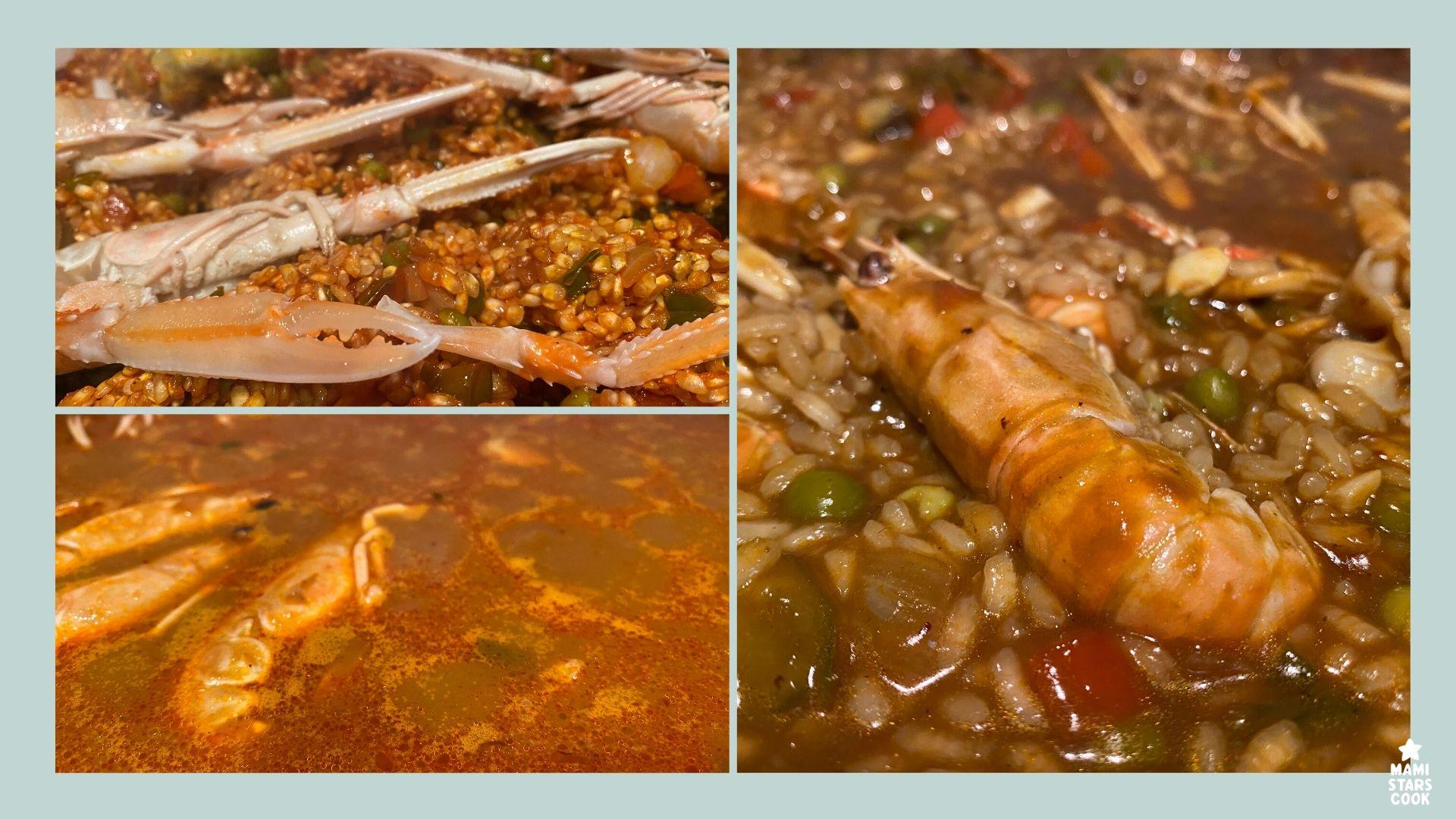 Receta de arroz con cigalas y navajas