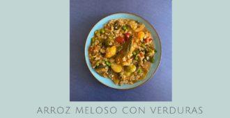 Arroz meloso con verduras