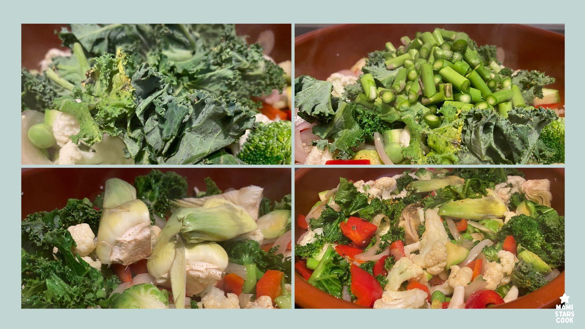 Receta de arroz meloso con verduras
