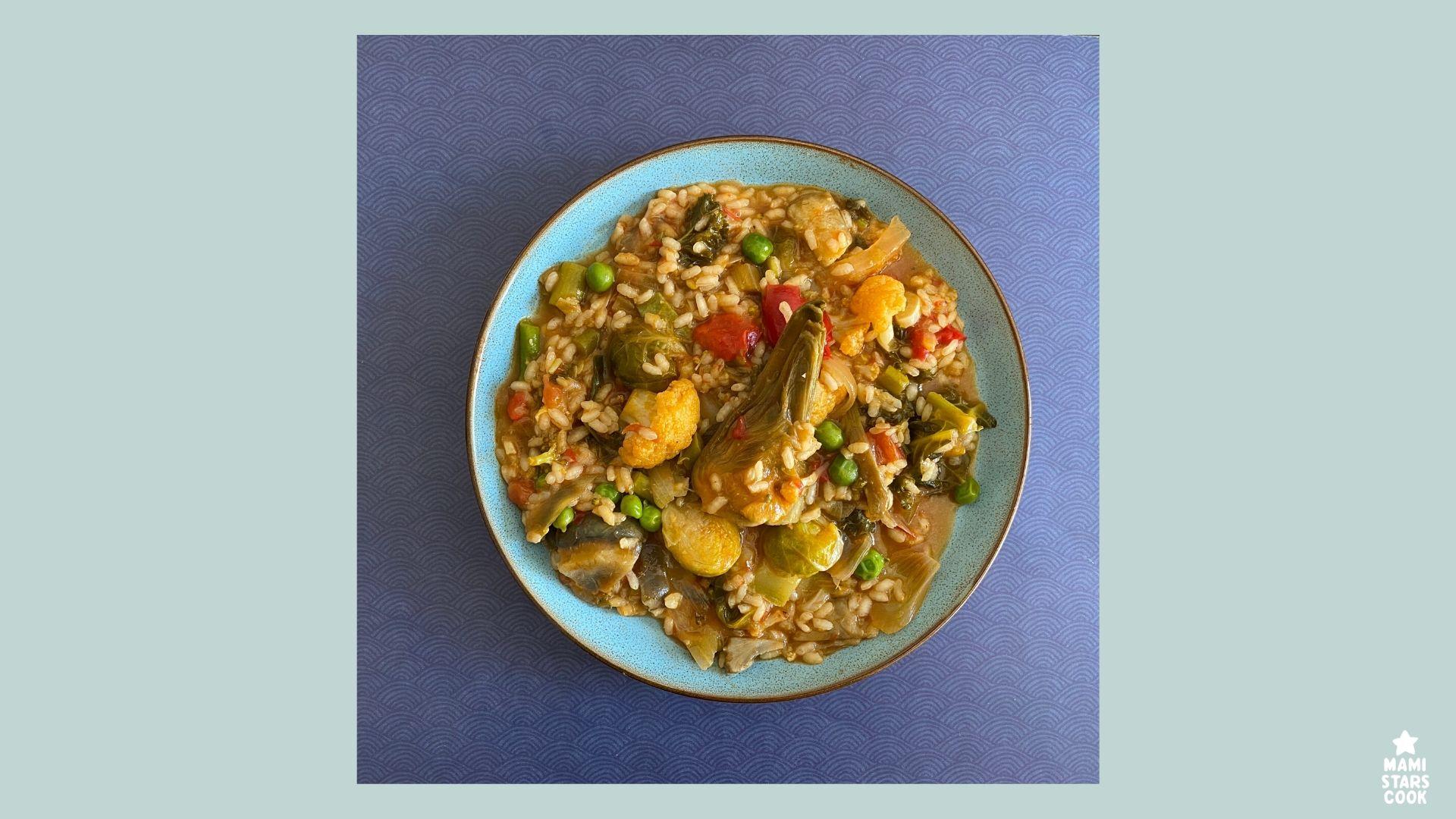 Receta de arroz meloso de verduras