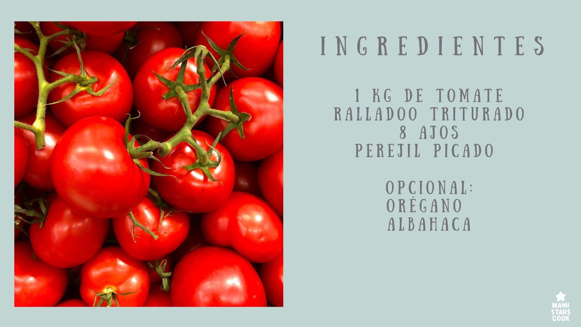 Ingredientes Salsa Marinara